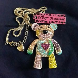 BETSEY Johnson pastel teddy bear  NWT
